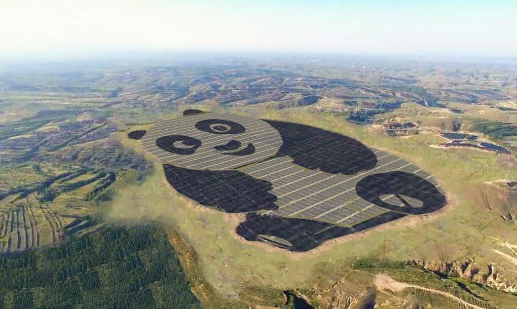 Солнечная станция в виде панды
