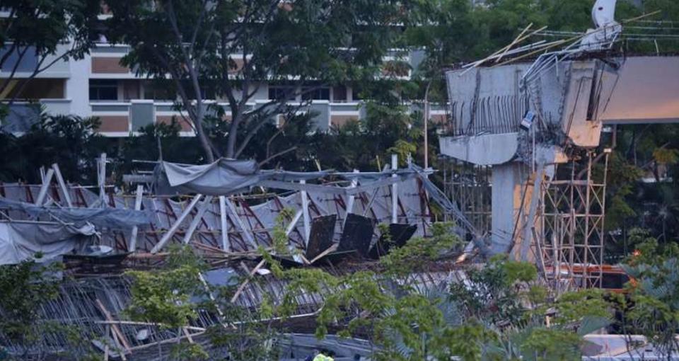 Падение моста в Сингапуре